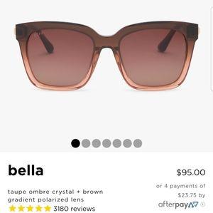 DIFF Bella sunglasses ombre brown NWT
